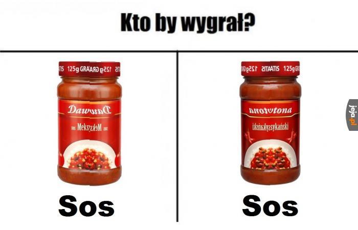Noł keczap, dżast sos