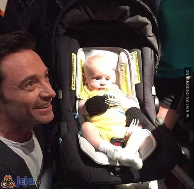 Wolverine z najmłodszym fanem