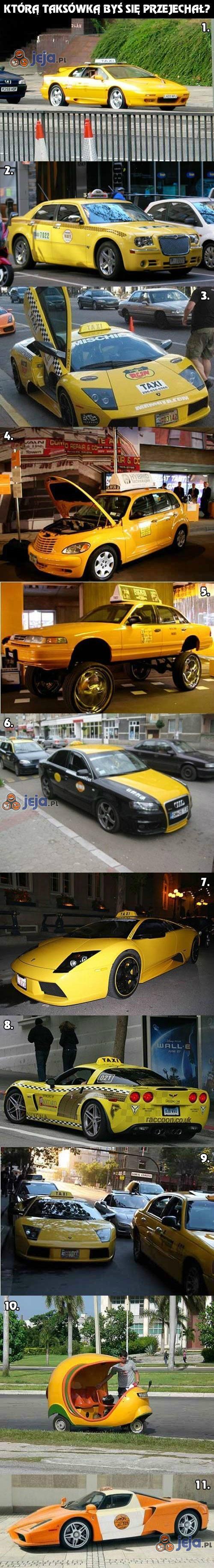 Którą taksówką byś się przejechał?