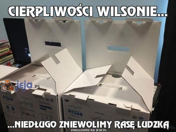 Cierpliwości Wilsonie...