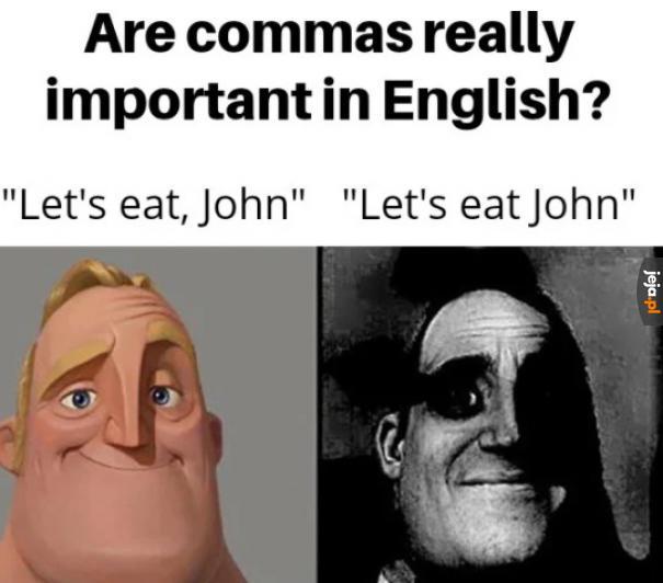 Przecinki w angielskim