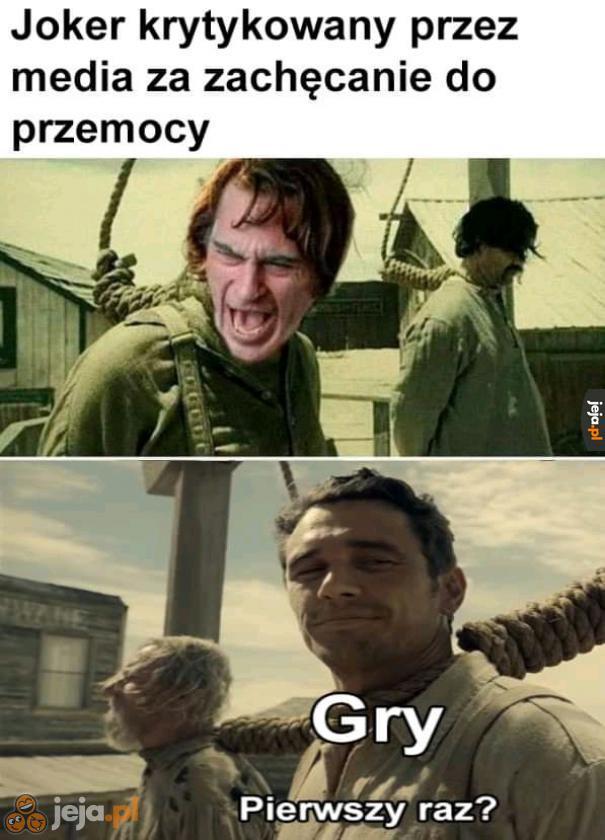 Joker powoduje przemoc...