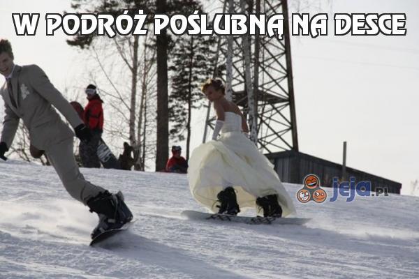 W podróż poślubną na desce