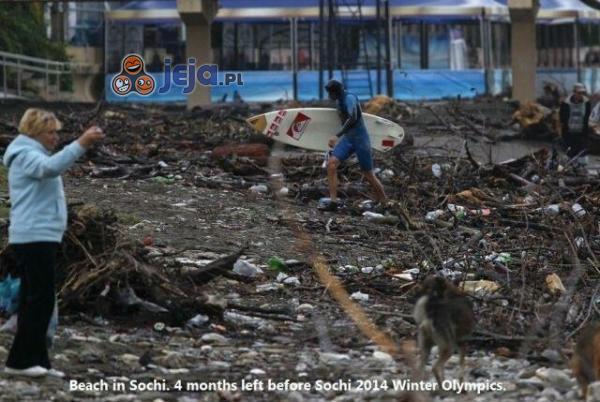Plaża w Soczi na 4 miesiące przed Olimpiadą