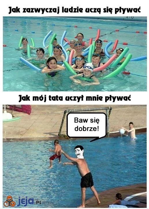 Nauka pływania wg mojego taty