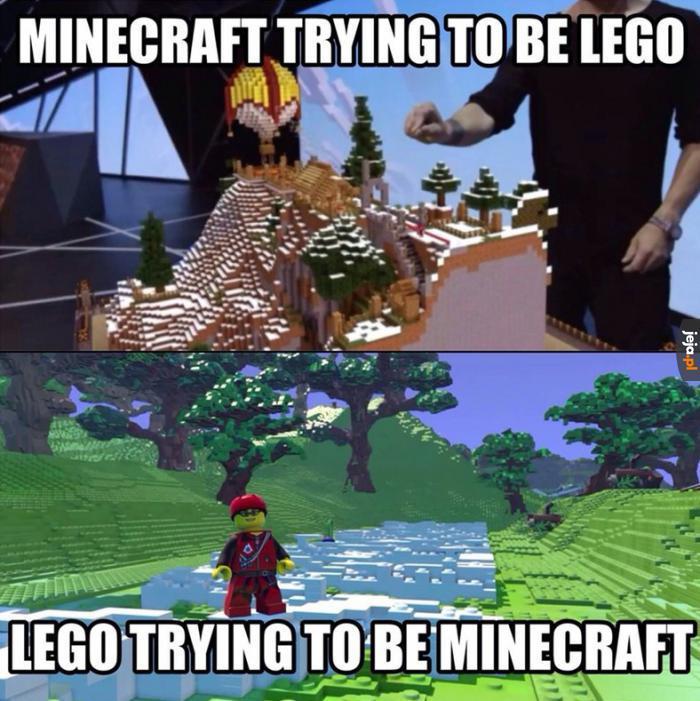 Lego Minecraft czy Minecraft Lego?