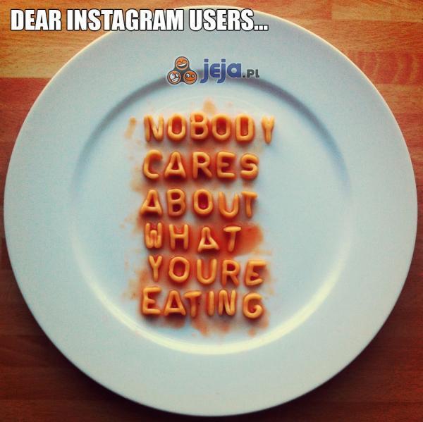 Drogi Instagramowiczu