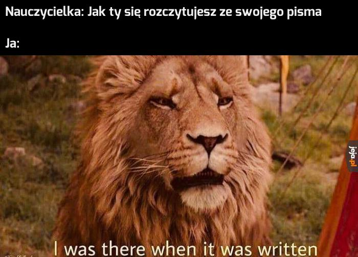 Dlatego tylko ja wiem, co piszę