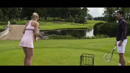 Tenis na polu golfowym
