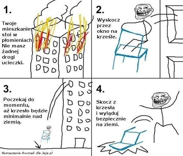Jak przetrwać pożar?