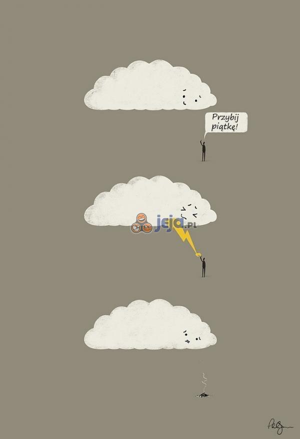 Przywitanie z chmurą