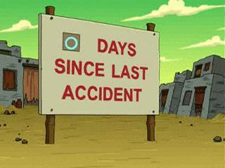 Dni od ostatniego wypadku