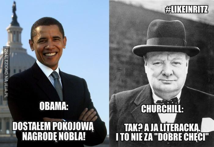 Obama vs Churchill