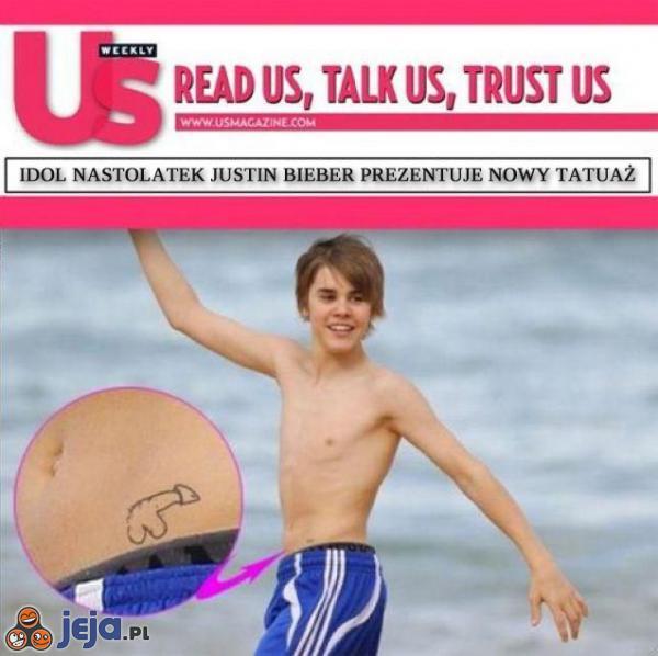 Nowy tatuaż Justina Biebera