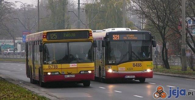 Kierunek jazdy autobusu