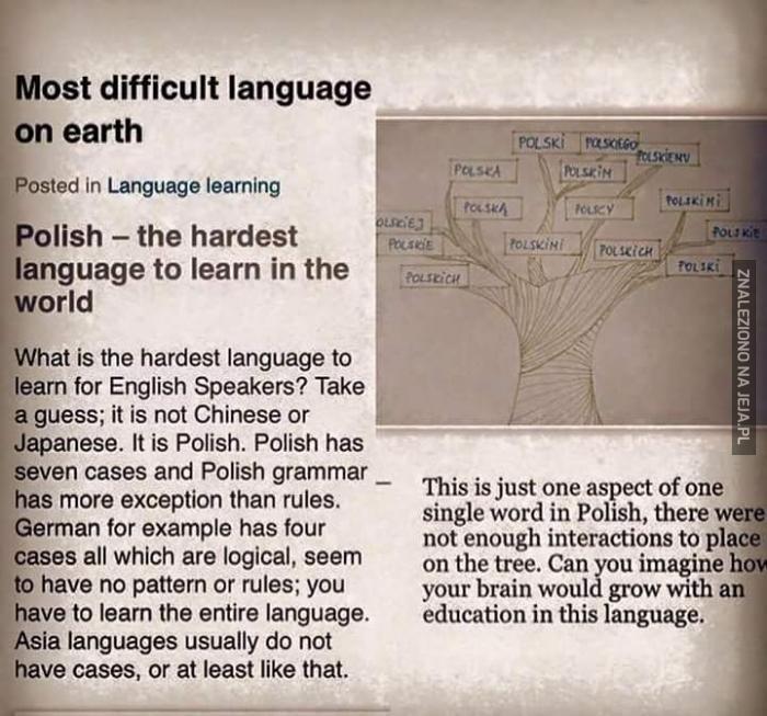 Polski taki trudny