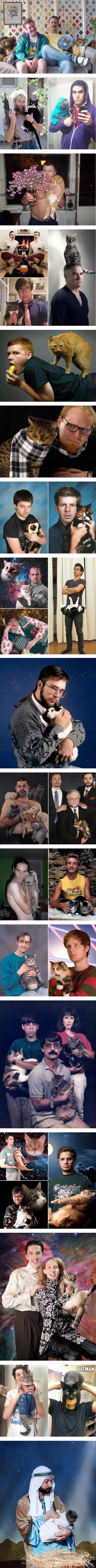 Mężczyźni z kotami