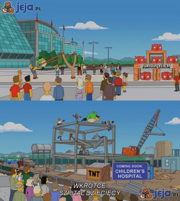 Angry Birds w Simpsonach