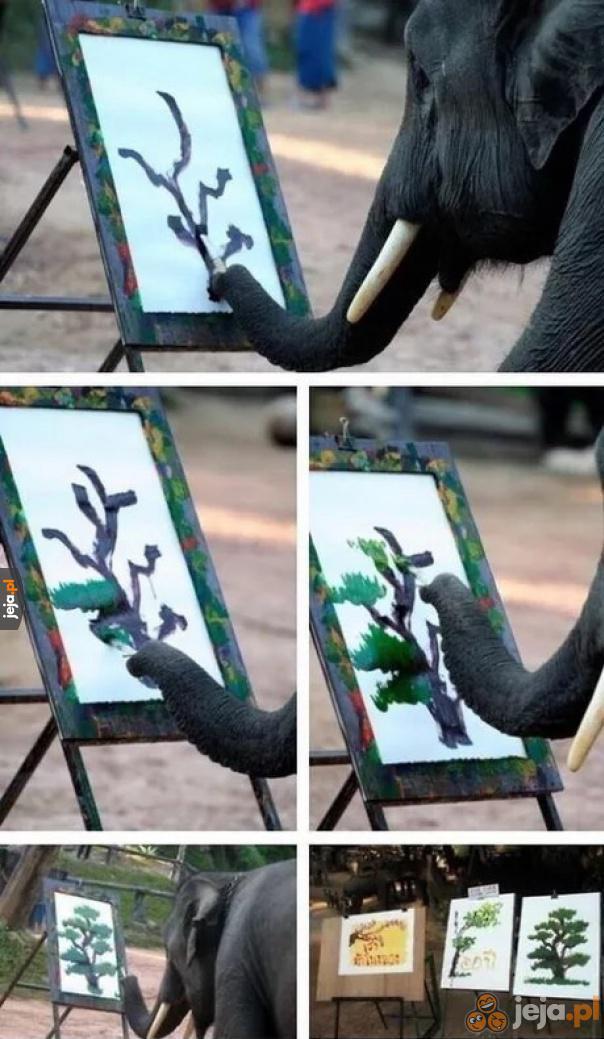 Słoń, który maluje lepiej ode mnie