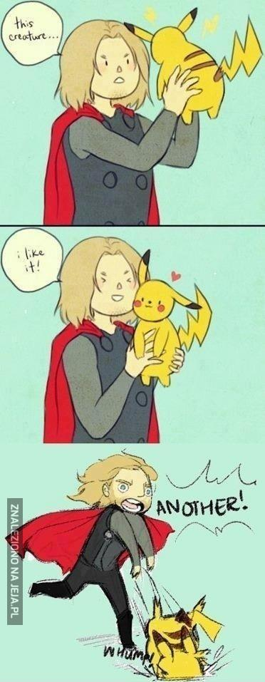 Thor i Pikachu
