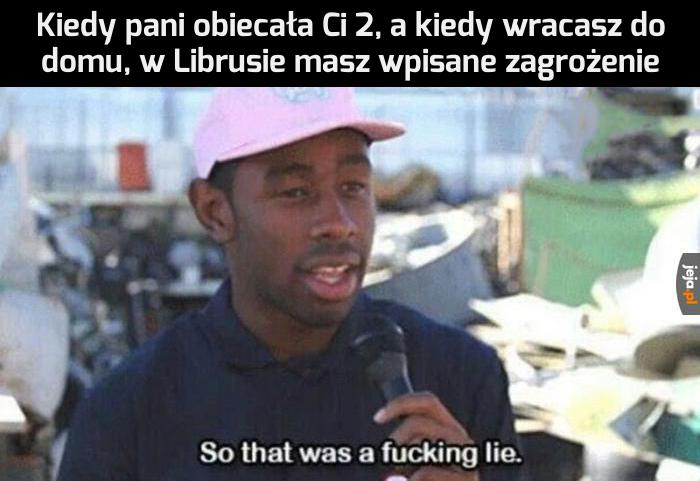 Kolejne kłamstwo