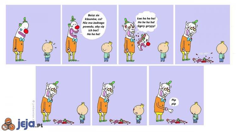 Nie ma powodu by bać się klaunów