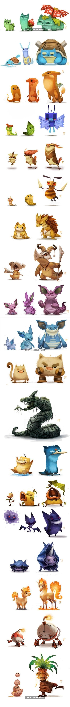 Pokemony w oryginalnym stylu