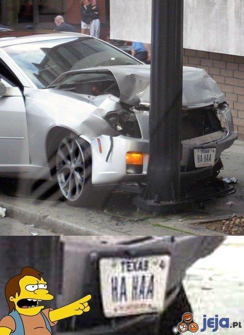 HA HAA miał wypadek