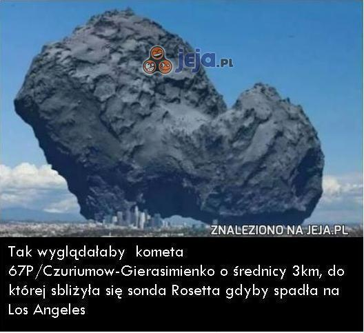 Kometa na tle miasta