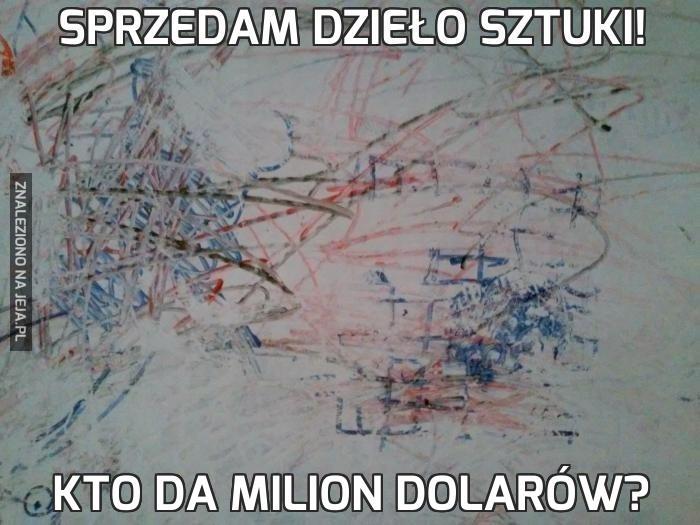 Sprzedam dzieło sztuki!