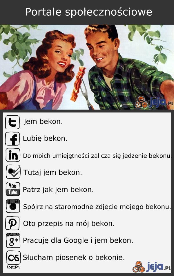 Portale społecznościowe na przykładzie bekonu
