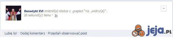 Facebook Benedykta XVI