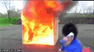 Pożar ugaszony w kilka sekund