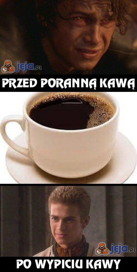 Jak wyglądam przed kawą i po kawie