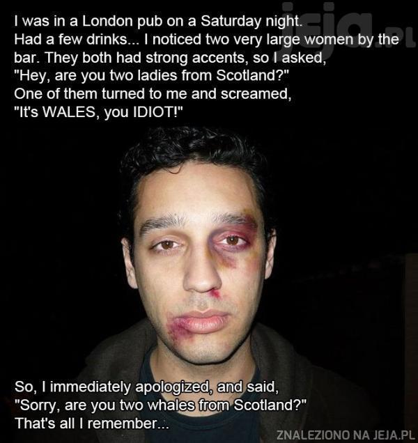 Londyn nocą jest bardzo niebezpieczny!