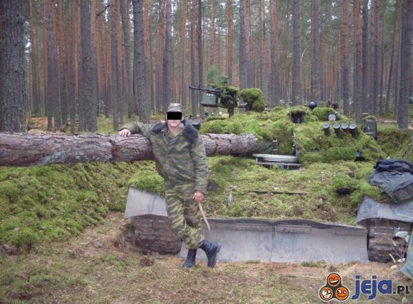 Kamuflaż rosyjskiego czołgu