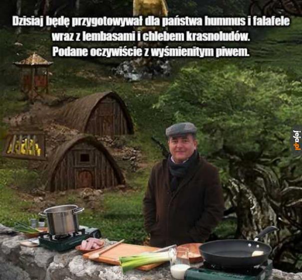 Krasnoludowicz gotuje