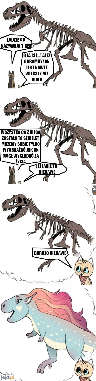 Ciekawe wyobrażenie wyglądu dinozaurów