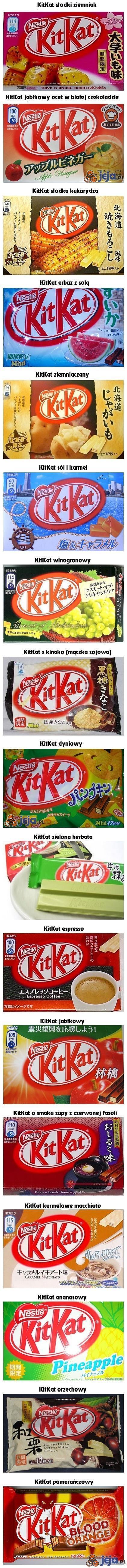 Dziwne smaki KitKata