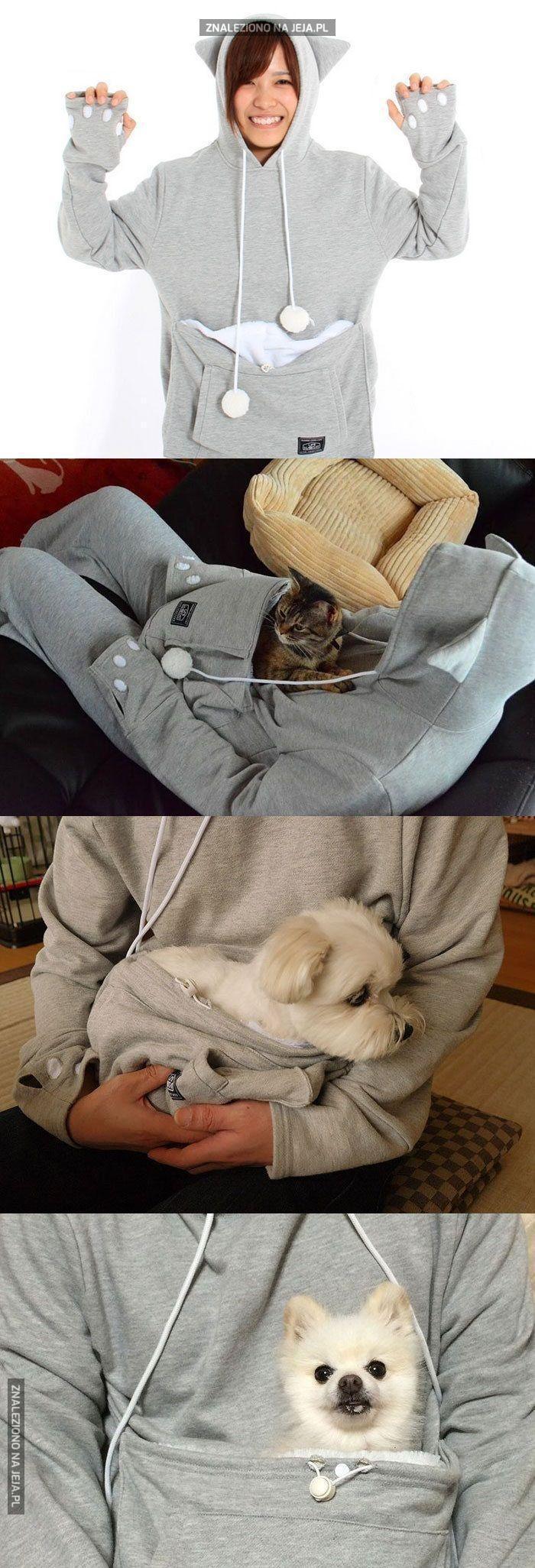 Bluza z kieszenią na zwierzaka