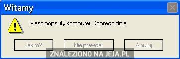 Masz popsuty komputer