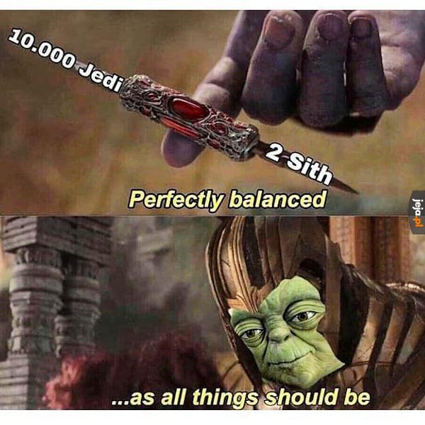 Perfekcyjny balans według Jedi