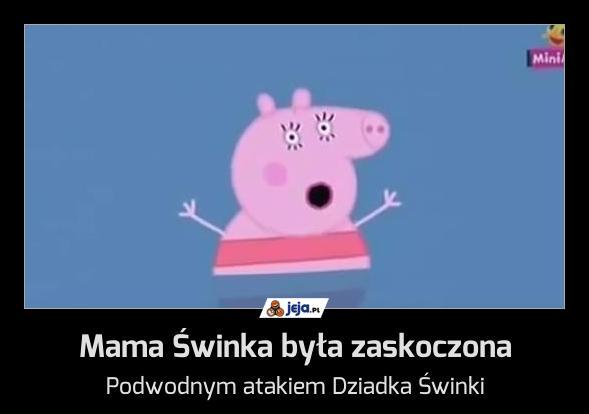Mama Świnka była zaskoczona