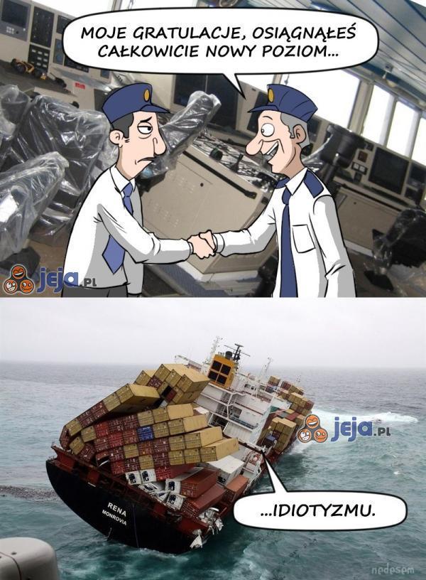 Cóż za manewr, panie kapitanie!