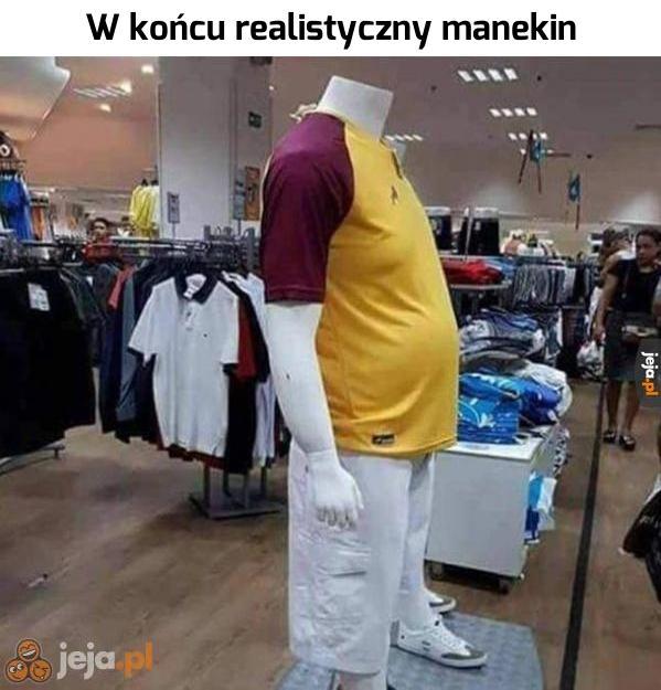 Prawdziwy polski manekin