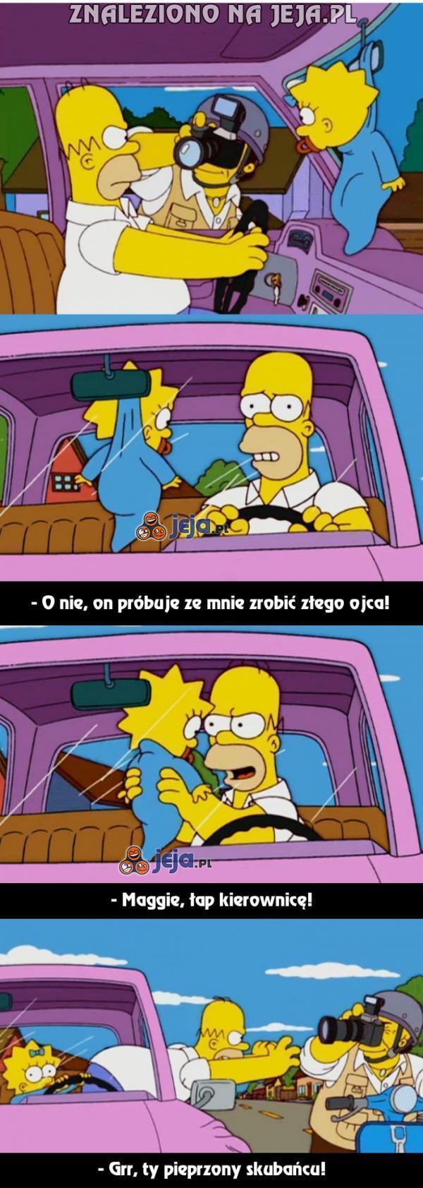 Homer to zły ojciec