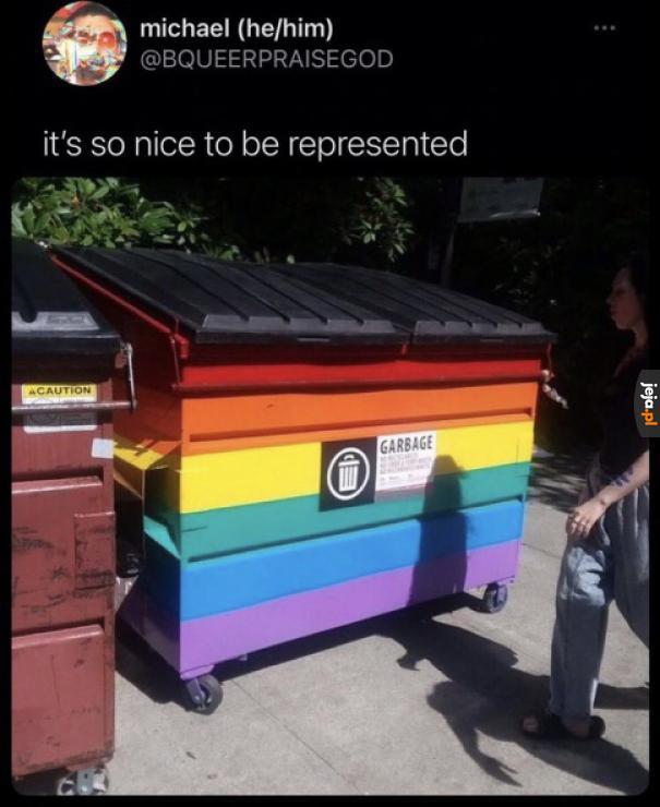 W końcu ktoś reprezentuje moją mniejszość