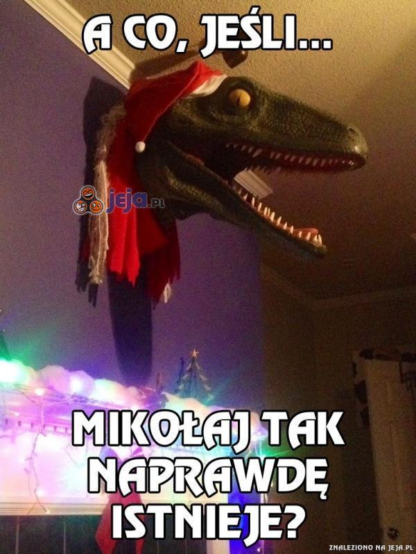 Świąteczne przemyślenia dinozaura