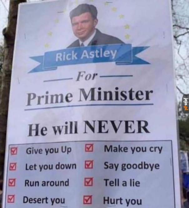 Głosuj na Ricka Astley'a!