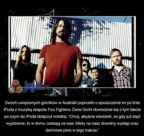 Foo Fighters dla górników